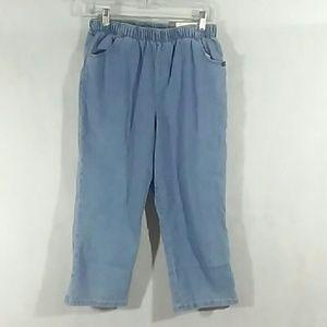 NWT Womens CHIC capri pants - Blue - Sz 10A